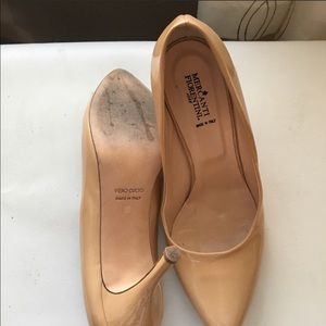 Patent Leather Nude Pointed Heels Sz 8